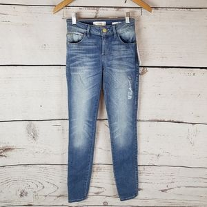 Guess Skinny Jean's Curvy Mid Rise Tall 0/24